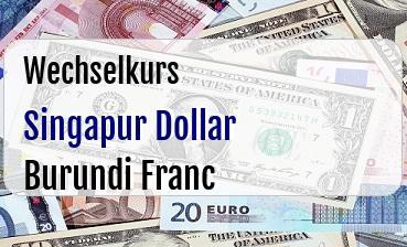 Singapur Dollar in Burundi Franc