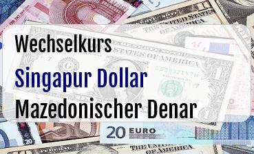 Singapur Dollar in Mazedonischer Denar