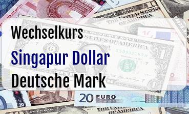 Singapur Dollar in Deutsche Mark