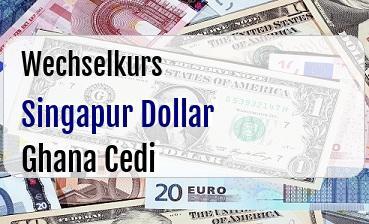 Singapur Dollar in Ghana Cedi