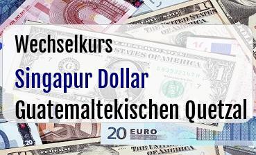Singapur Dollar in Guatemaltekischen Quetzal