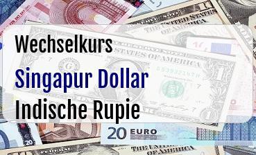Singapur Dollar in Indische Rupie