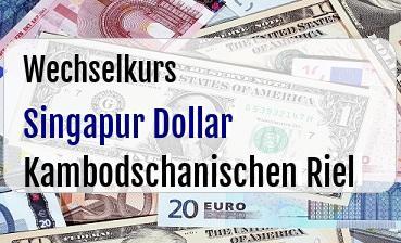Singapur Dollar in Kambodschanischen Riel