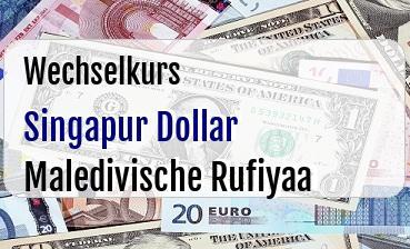 Singapur Dollar in Maledivische Rufiyaa