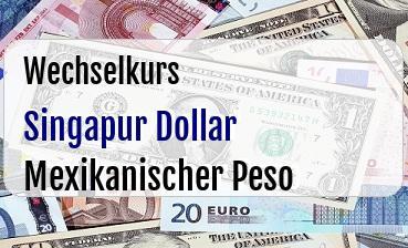 Singapur Dollar in Mexikanischer Peso