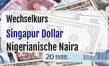 Singapur Dollar in Nigerianische Naira