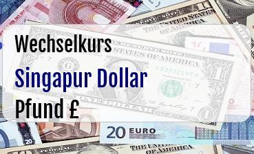 Singapur Dollar in Britische Pfund