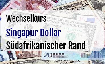 Singapur Dollar in Südafrikanischer Rand