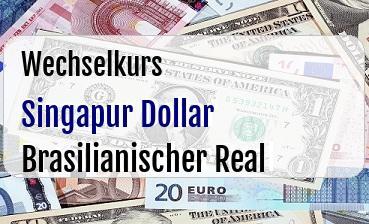 Singapur Dollar in Brasilianischer Real