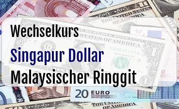 Singapur Dollar in Malaysischer Ringgit