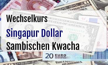 Singapur Dollar in Sambischen Kwacha