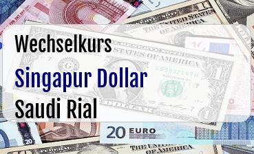 Singapur Dollar in Saudi Rial
