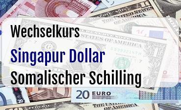 Singapur Dollar in Somalischer Schilling