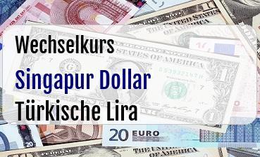 Singapur Dollar in Türkische Lira
