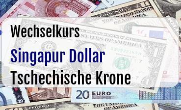 Singapur Dollar in Tschechische Krone