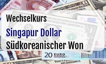 Singapur Dollar in Südkoreanischer Won