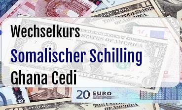 Somalischer Schilling in Ghana Cedi