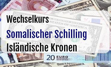 Somalischer Schilling in Isländische Kronen