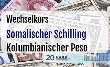 Somalischer Schilling in Kolumbianischer Peso