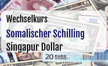 Somalischer Schilling in Singapur Dollar