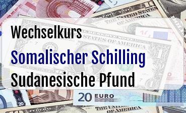 Somalischer Schilling in Sudanesische Pfund