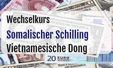 Somalischer Schilling in Vietnamesische Dong