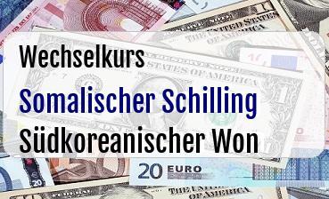 Somalischer Schilling in Südkoreanischer Won