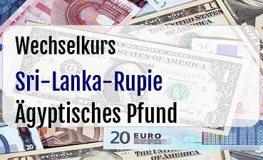 Sri-Lanka-Rupie in Ägyptisches Pfund