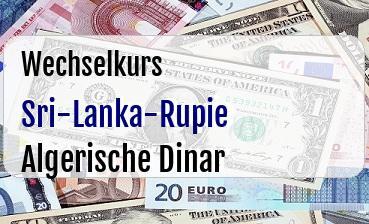 Sri-Lanka-Rupie in Algerische Dinar