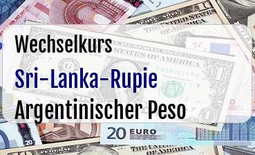 Sri-Lanka-Rupie in Argentinischer Peso
