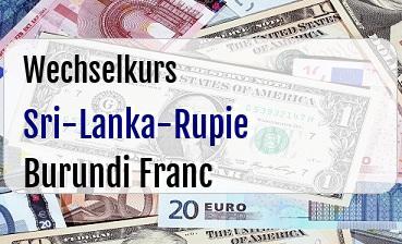 Sri-Lanka-Rupie in Burundi Franc