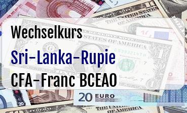 Sri-Lanka-Rupie in CFA-Franc BCEAO