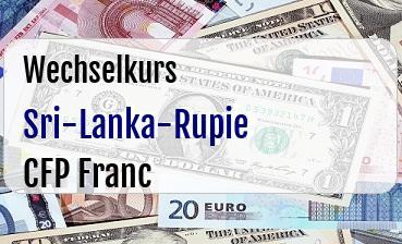 Sri-Lanka-Rupie in CFP Franc