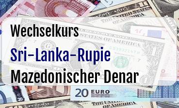 Sri-Lanka-Rupie in Mazedonischer Denar