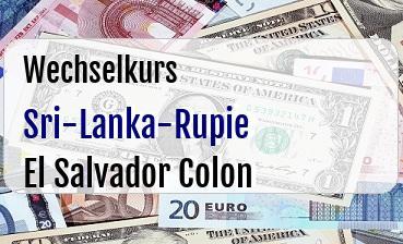 Sri-Lanka-Rupie in El Salvador Colon