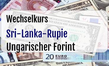 Sri-Lanka-Rupie in Ungarischer Forint