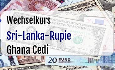 Sri-Lanka-Rupie in Ghana Cedi