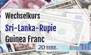 Sri-Lanka-Rupie in Guinea Franc
