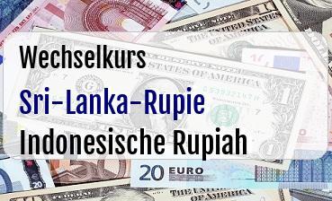 Sri-Lanka-Rupie in Indonesische Rupiah