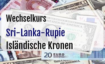 Sri-Lanka-Rupie in Isländische Kronen