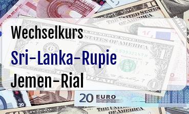 Sri-Lanka-Rupie in Jemen-Rial
