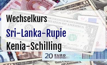 Sri-Lanka-Rupie in Kenia-Schilling