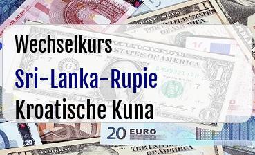 Sri-Lanka-Rupie in Kroatische Kuna
