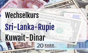 Sri-Lanka-Rupie in Kuwait-Dinar