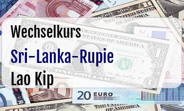 Sri-Lanka-Rupie in Lao Kip