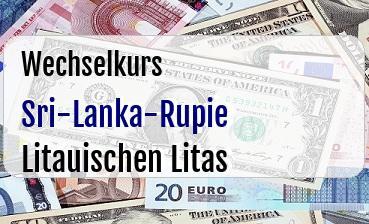 Sri-Lanka-Rupie in Litauischen Litas