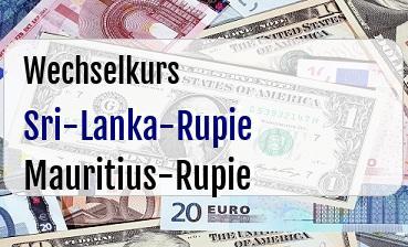 Sri-Lanka-Rupie in Mauritius-Rupie