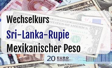 Sri-Lanka-Rupie in Mexikanischer Peso