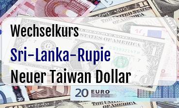 Sri-Lanka-Rupie in Neuer Taiwan Dollar