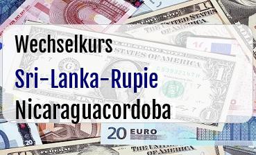 Sri-Lanka-Rupie in Nicaraguacordoba